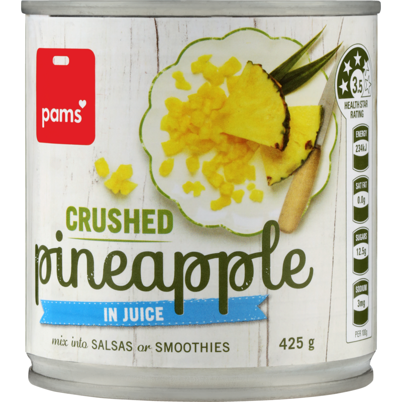 PAMS PINEAPPLE CRUSHED IN JUICE 432G