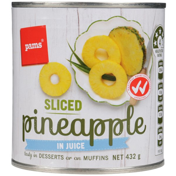 PAMS PINEAPPLE SLICES IN JUICE 432G