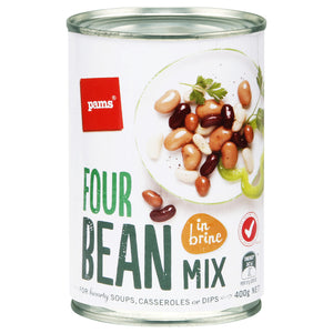 Pams Four Bean Mix (In Brine) 400g