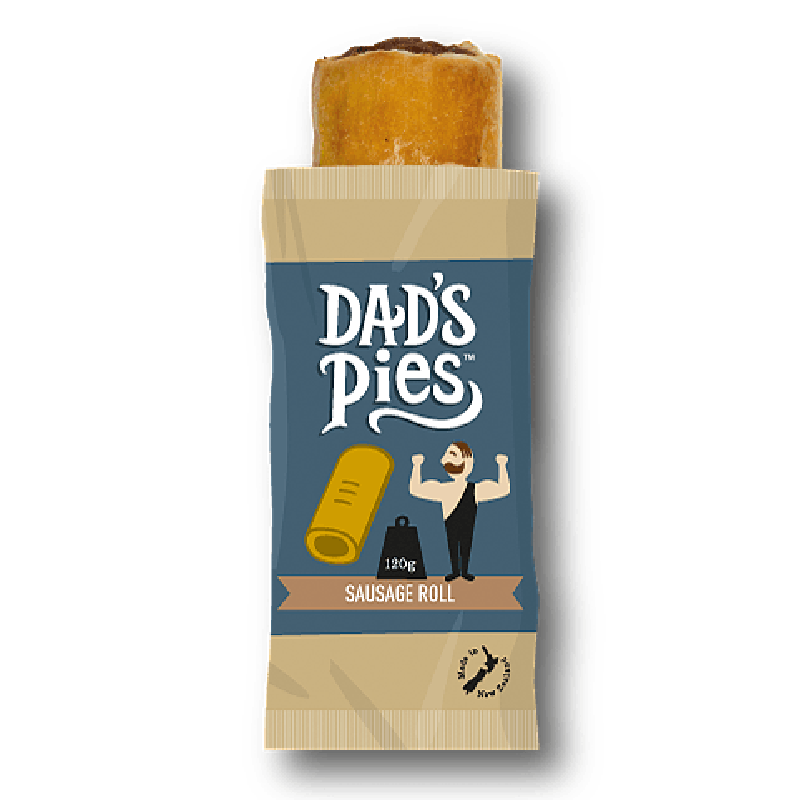 Dads Pies Beef Sausage Roll 120gm
