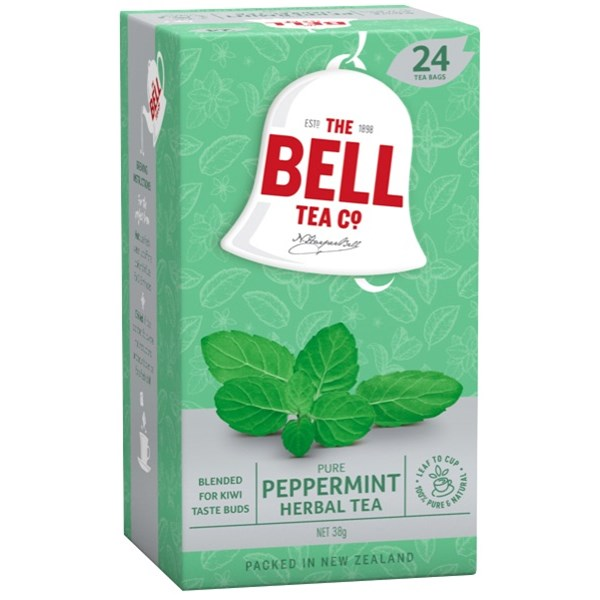 BELL HERBAL PEPPERMINT TAGLESS TBAGS 24s