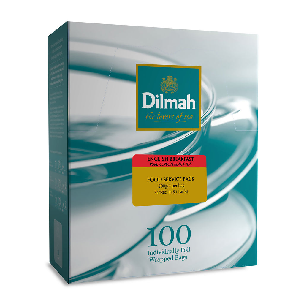 Dilmah English Breakfast Envelope Tea Bags (100 Per/ Carton)