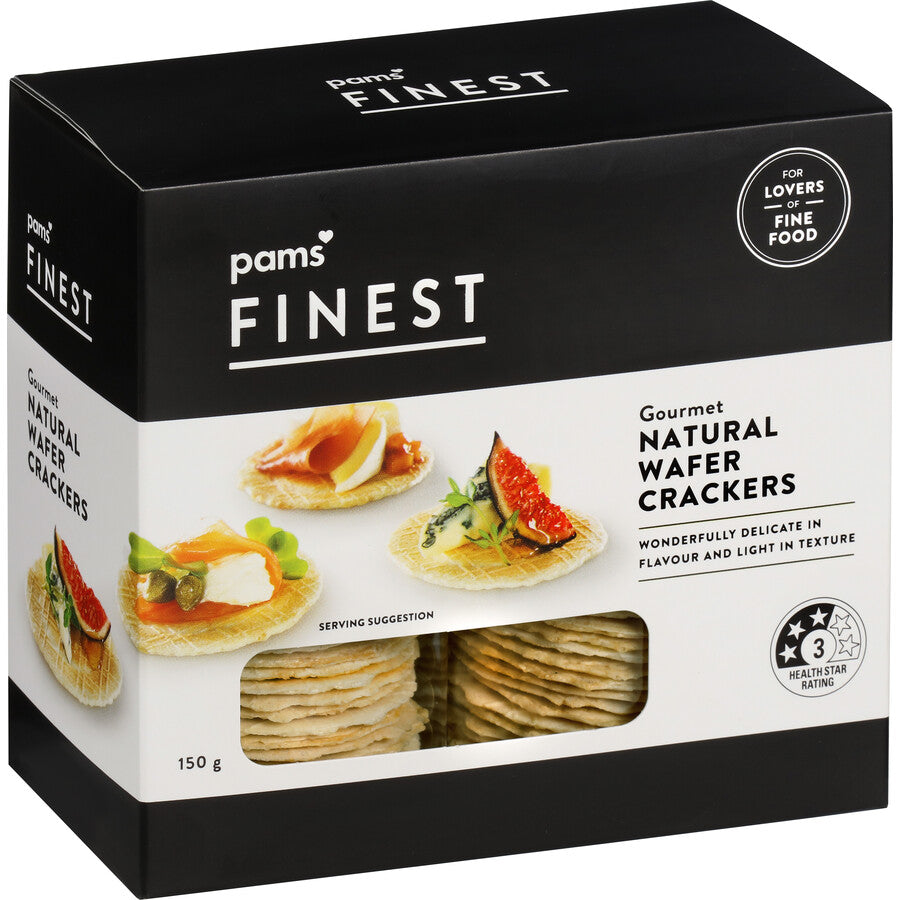 Pams Finest Wafer Crackers Natural  150G