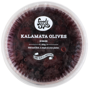 FOOD SNOB KALAMATA OLIVES 180g