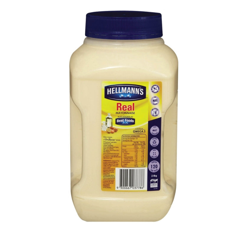 Hellmans Real Mayonnaise 2.4kg