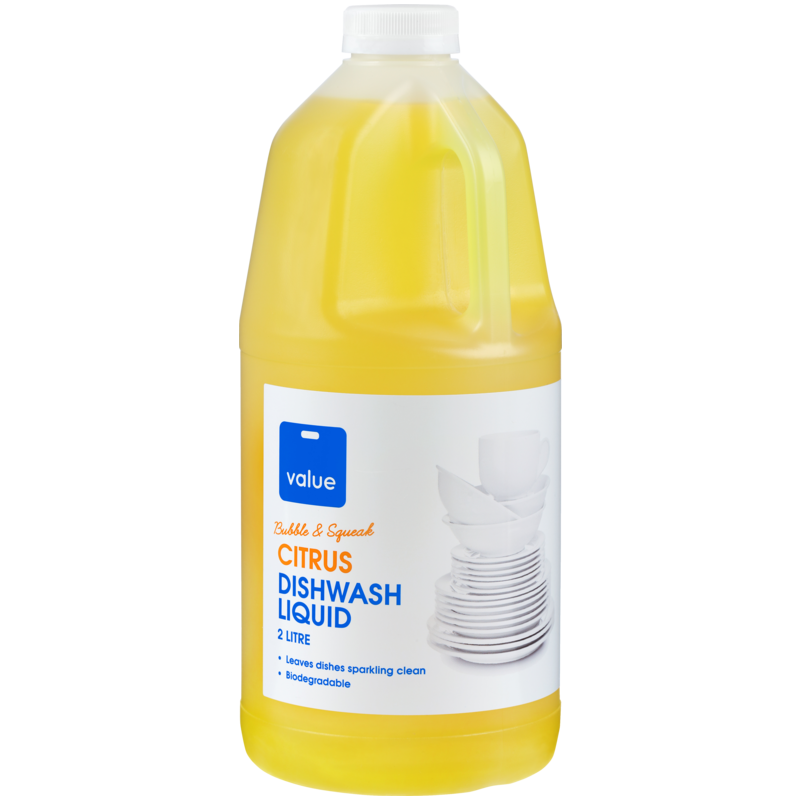 VALUE DISHWASH LIQUID CITRUS 2L