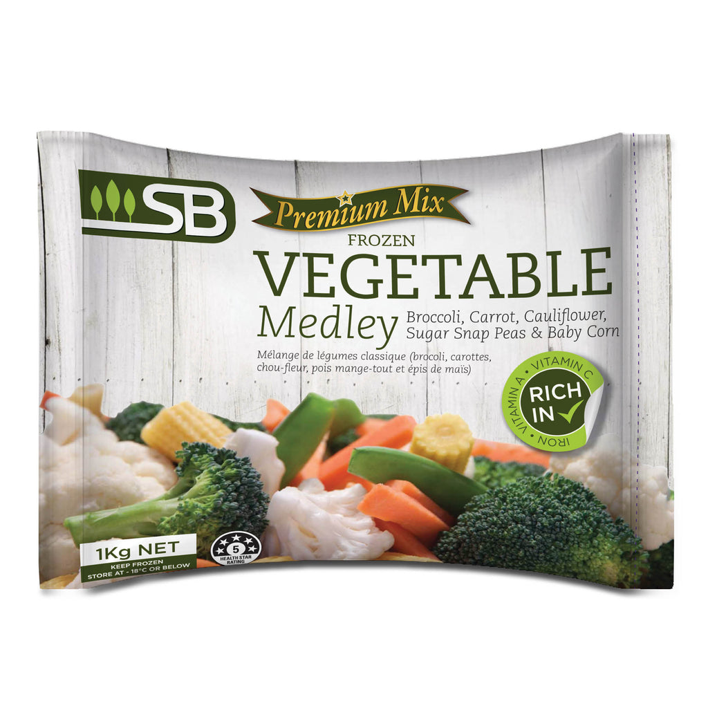Premium Vege Mix (Carrot, Cauliflower, Broccoli, Sugar Snap Peas, Baby Corn) 1kg