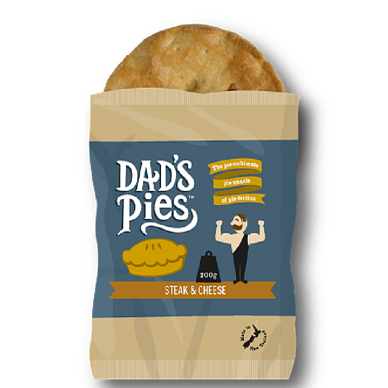 Dads Pies Steak & Cheese Pies 200gm