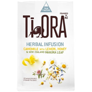 TI ORA LEMON & HONEY CHAMOMILE W/ MANUKA LEAF PACK (PACK 15)