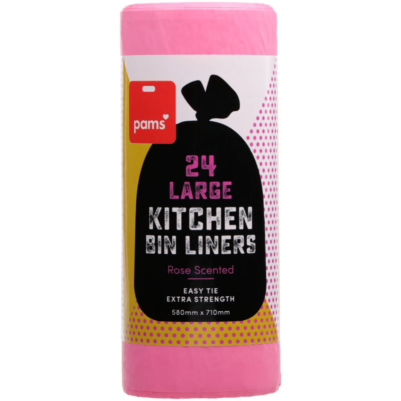 PAMS KITCHEN TIDY LINERS LRG SCENTED 24S