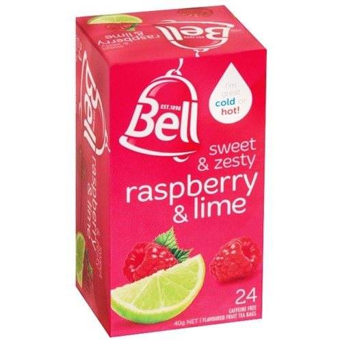 BELL FRUIT RASPBERRY & LIME TAGLESS TBAGS 24s