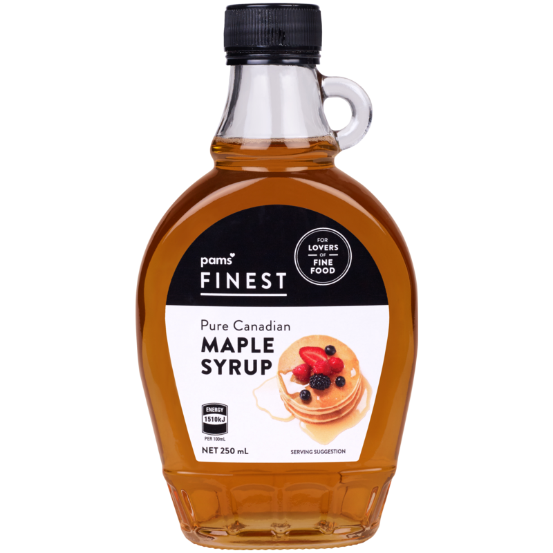 PAMS FINEST CANADIAN MAPLE SYRUP 250ML