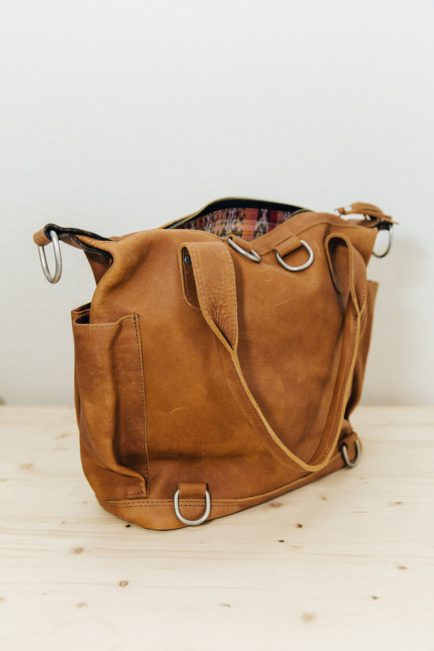 Wanderer- Whisky Full Grain Leather Medium Bag
