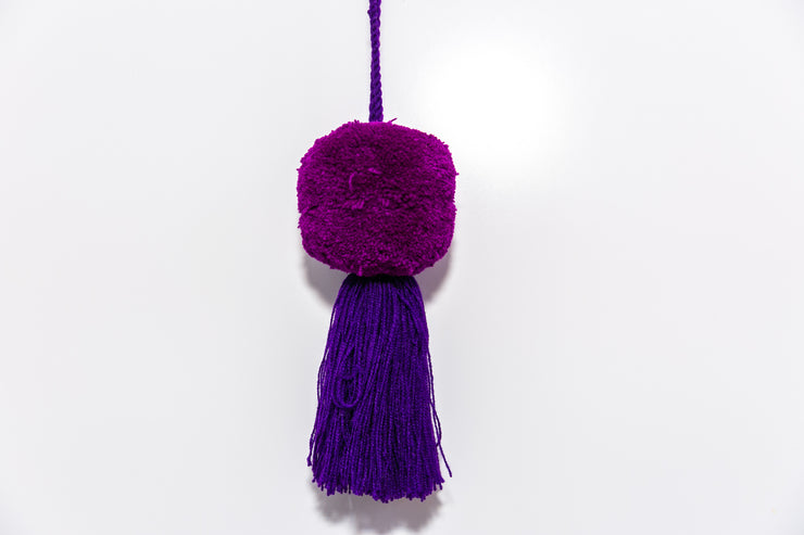 Pom Poms- VIOLET - Crafted by Female Artisans