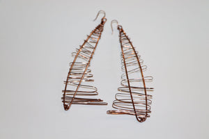 Artist Created - Copper Earrings