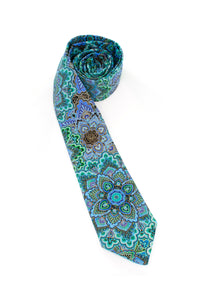 tie pattern teal purple metallic beautiful unique bright colorful gifts for him gifts for dad necktie www.GroovyTieSquad.com