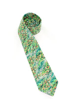 Load image into Gallery viewer, tie green peacock feathers unique necktie gift for him www.GroovyTieSquad.com