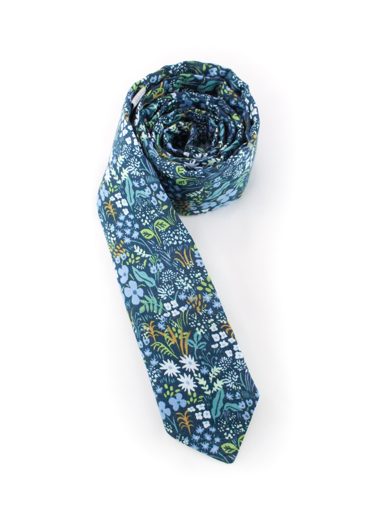 tie blue floral forest nature gift for him  www.GroovyTieSquad.com