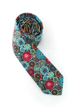 Load image into Gallery viewer, tie sea urchin red teal ocean gift for him necktie www.GroovyTieSquad.com