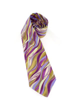 Load image into Gallery viewer, tie olive metallic purple necktie gift for dad gift for him www.GroovyTieSquad.com