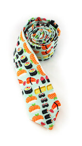 tie sushi food theme fun necktie unique  www.GroovyTieSquad.com