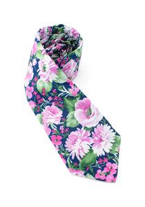 tie floral flowers light pink beautiful elegant necktie gift for him www.GroovyTieSquad.com