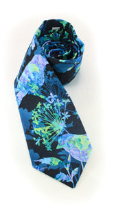 tie blue birds pattern gift for dad gift for him necktie www.GroovyTieSquad.com