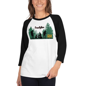 Unisex Friendly Bears in the Woods Baseball T