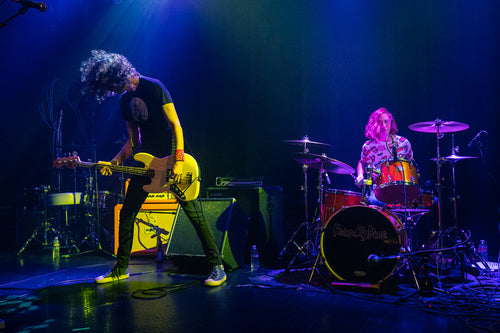 Adam Bones and Meg Speer of FriendlyBear on bass and drums at The Troubadour