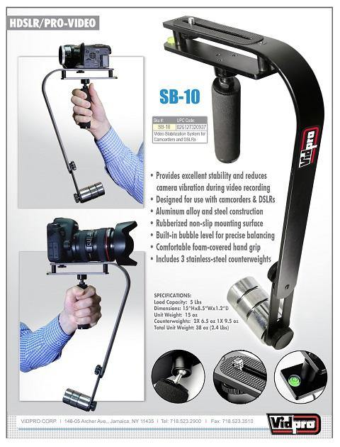SB-10 Steadycam Video Stabilizer