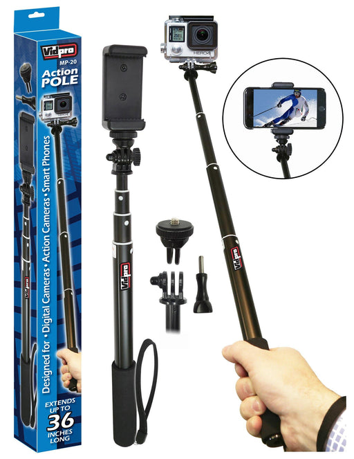MP-20 Action Pole for GoPro, Digital Cameras & DSLRs