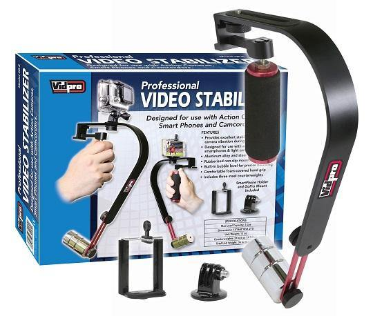 SB-8 Video Stabilizer for GoPro, Smartphones and Small Camcorders
