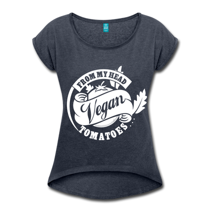 Women: Vegan From My Head To My Toes - navy heather