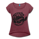 Vegan From My Head To My Toes T-Shirt - heather burgundy