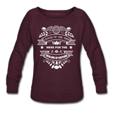 Women Vegan Healing Sweatshirt - plum