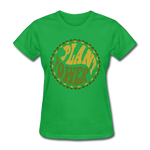 Women's Vegan Plant Power T-Shirt - bright green