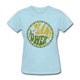 Women's Vegan Plant Power T-Shirt - powder blue
