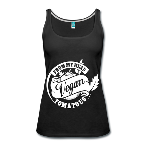 Women Tank: Vegan From My Head To My Toes - black