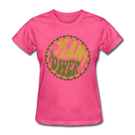Women's Vegan Plant Power T-Shirt - heather pink