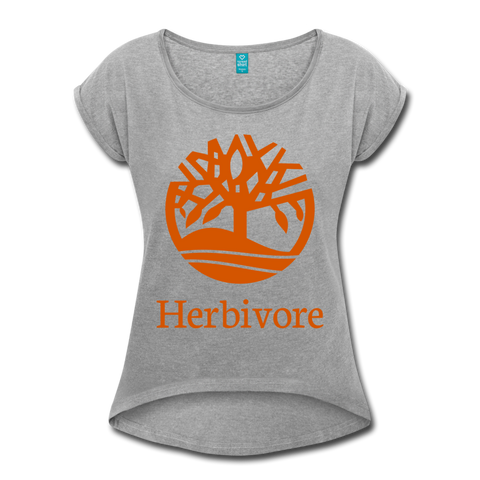 Women's Vegan Herbivore T-Shirt - heather gray