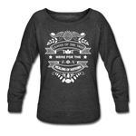 Women Vegan Healing Sweatshirt - heather black