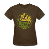 Women's Vegan Plant Power T-Shirt - brown