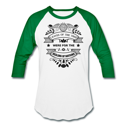 Vegan Healing T-Shirt - white/kelly green