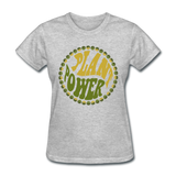 Women's Vegan Plant Power T-Shirt - heather gray