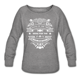 Women Vegan Healing Sweatshirt - heather gray