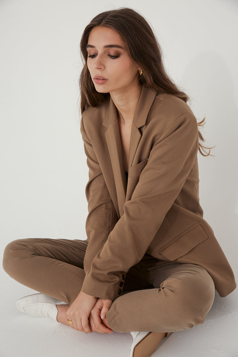 The Oversized Tencel Blazer - Almina Concept
