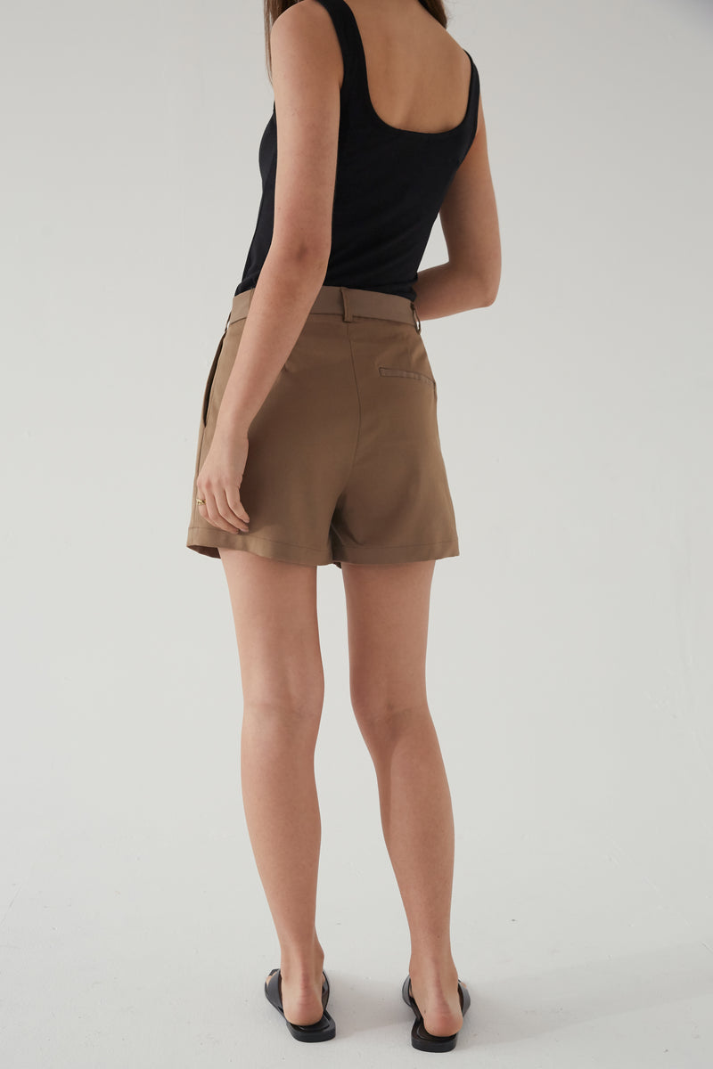 High Waisted Pleated Shorts - Almina Concept