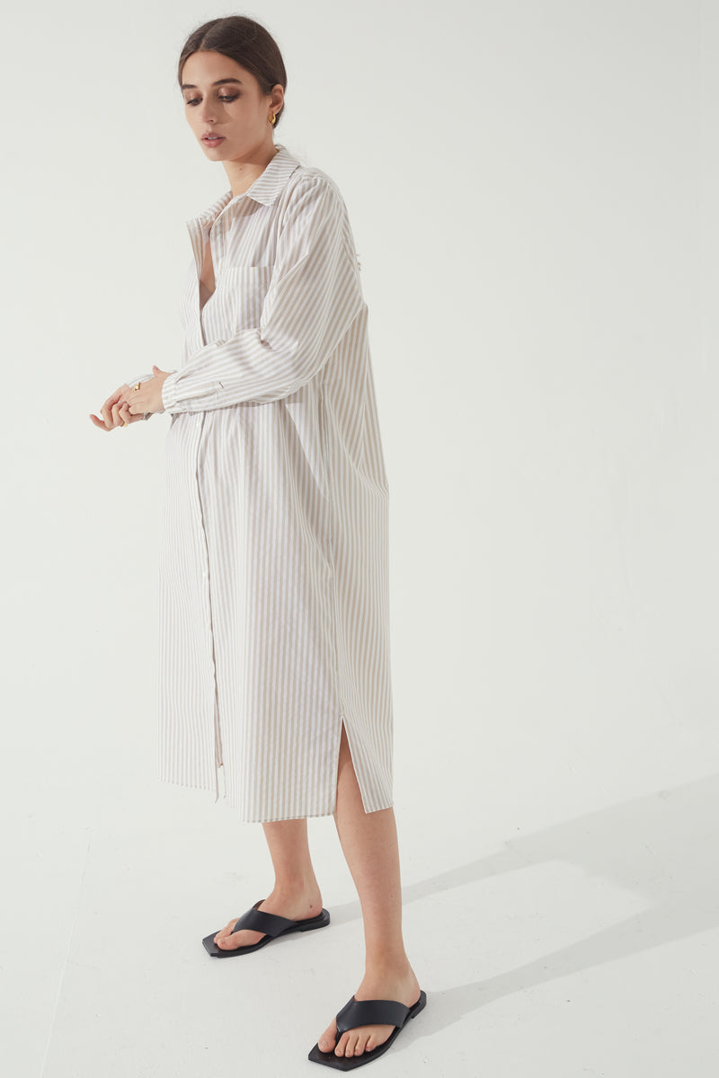 Stripe Shirt Dress - Almina Concept