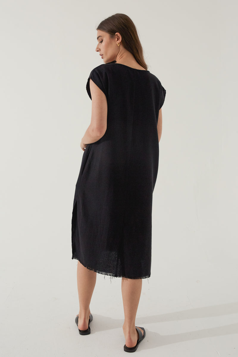 V Neck Dress - Almina Concept