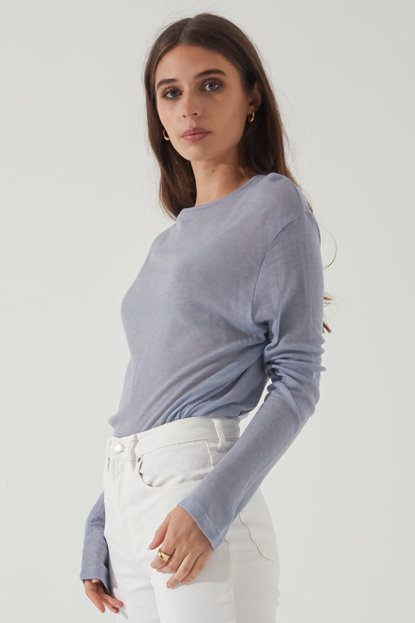 Long Sleeve Wool Tee - Almina Concept